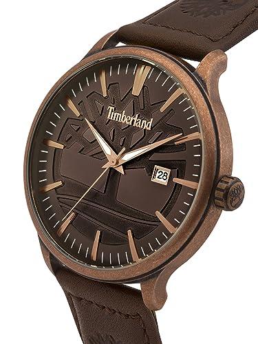 Timberland Reloj Análogo clásico para Hombre de Cuarzo con Correa en Cuero 15260JSQBZ/12: Amazon.es: Relojes