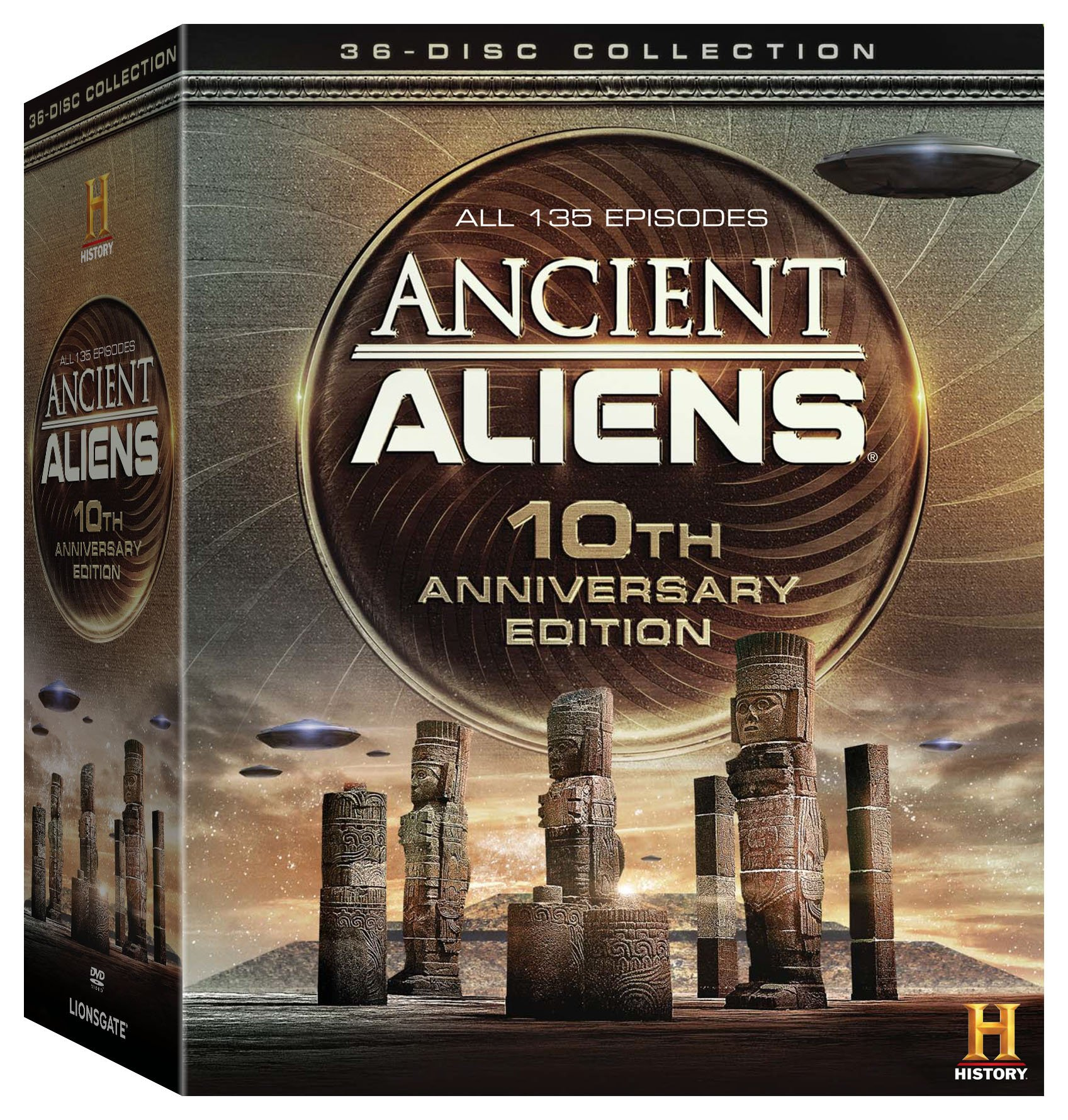DVD : Ancient Aliens: 10th Anniversary Edition (Boxed Set, Gift Set, Anniversary Edition, Full Frame, Widescreen)
