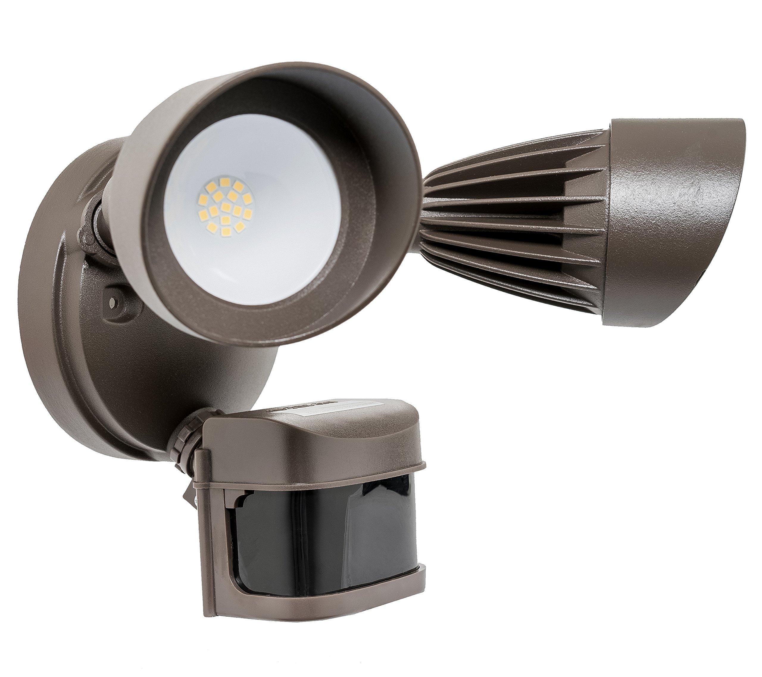 Westgate Lighting LED Outdoor Security Light– Waterproof IP65- Die-Cast Aluminum- High Lumen- Tempered Glass Lens- UL Listed – 100-120V AC (1, 3000K Soft White)