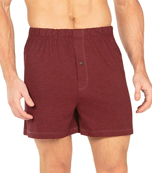 TexereSilk para Hombre Boxer Pantalones Cortos – Lujo bambú Boxer Ropa Interior Transpirable Jersey Hombre -