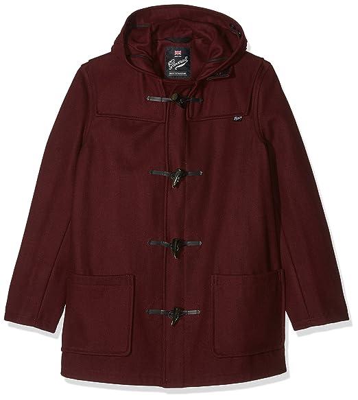 Gloverall Mid Length Duffle, Abrigo para Hombre, Rojo (Burgundy), Large