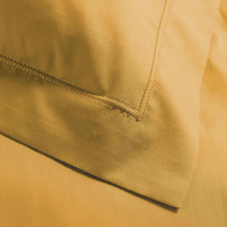Kissenbezug mit Stehsaum Honig Perkalin 50 x 70 cm