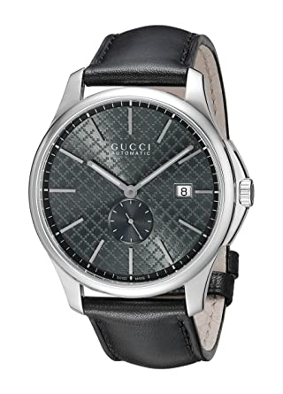 51a593488d1 Amazon.com  Gucci G-Timeless Analog Display Swiss Automatic Black Women s  Watch(Model YA126319)  GUCCI  Watches