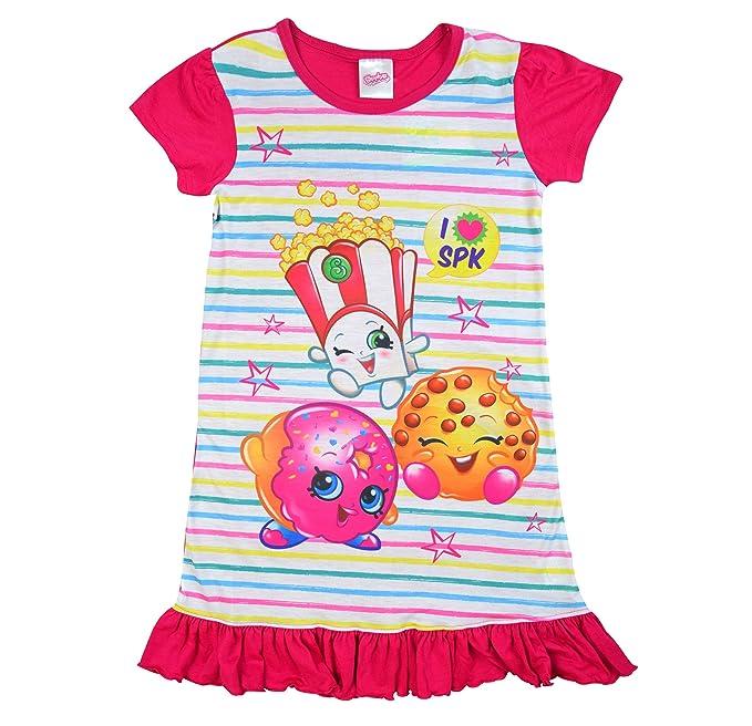 Shopkins Character Shopaholic Girls Nighty 100/% Polyester Clothing