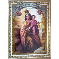 Rustiluz Azulejo Virgen del Carmen 45 x 60