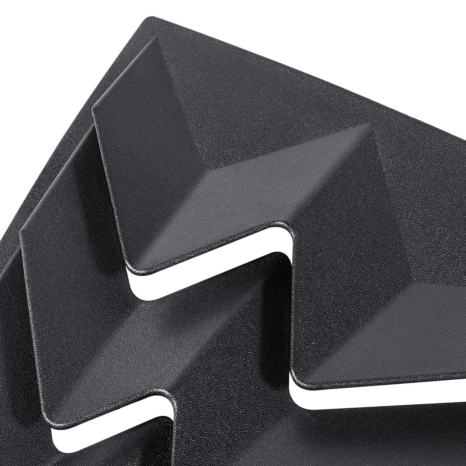 Sunluway for Dodge Challenger 2008-2019 Quarter Side Window Scoop Louvers ABS Window Visor Cover Sun Rain Shade Vent