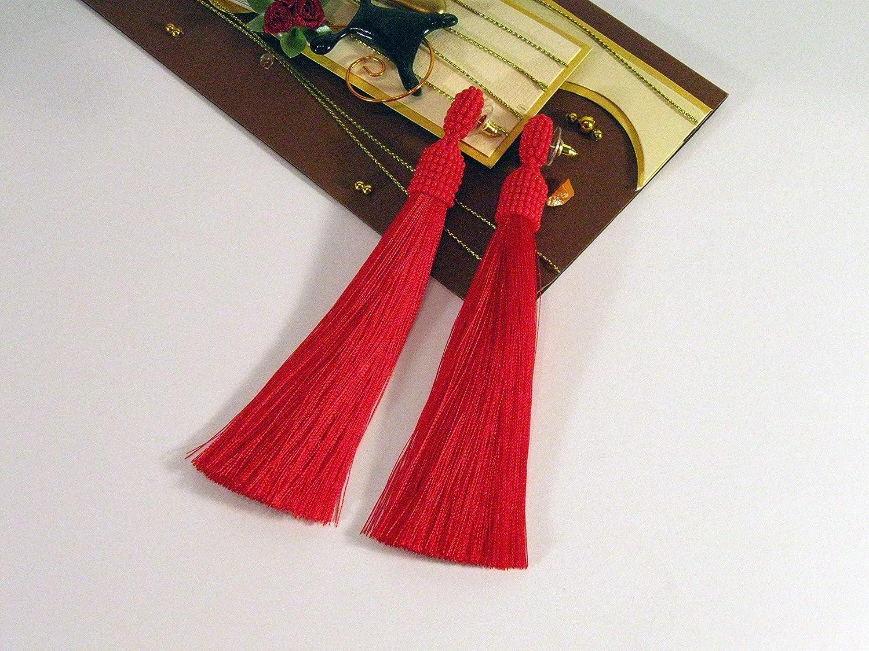 Hand Made Tassel Turkish Tassel CC216 2pc Silk Thread Tassel Mala Tassel Tassel Earring Findings Bordeaux Red Silk Tassel