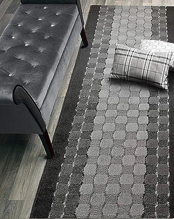 Amazon Com Custom Size Checkered Hallway Runner Rug Slip Resistant