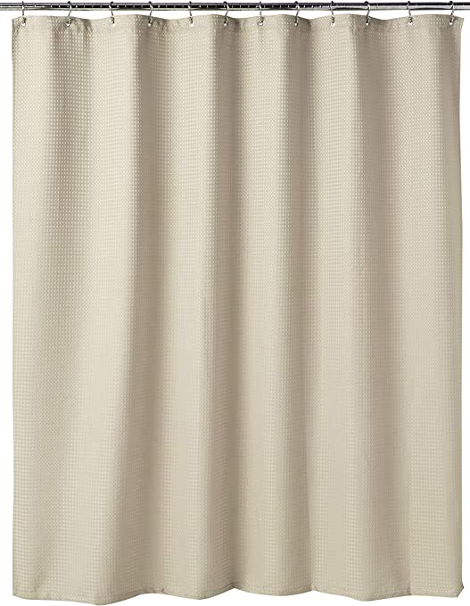 "Waffle Fabric Shower Curtain 70/""x72/"" Machine washable High quality fabric"