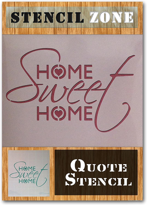 dulce hogar Vintage elegante lamentable Mylar pintura del arte de la plantilla A5 Tama/ño de la plantilla - XSmall Hogar