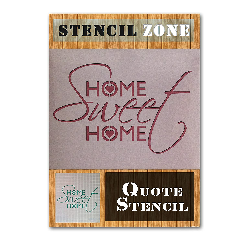 Home Sweet Home vintage shabby chic Mylar Peinture murale Pochoir A5 Size Stencil XSmall