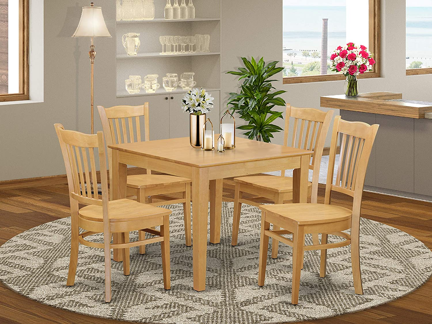 9 PC Kitchen Table set - Kitchen dinette Table and 9 Dining Chairs