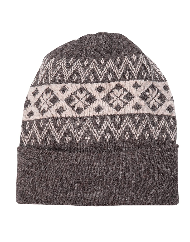 be90896da12 Devil Men s Wool Self Design Winter Cap (Grey