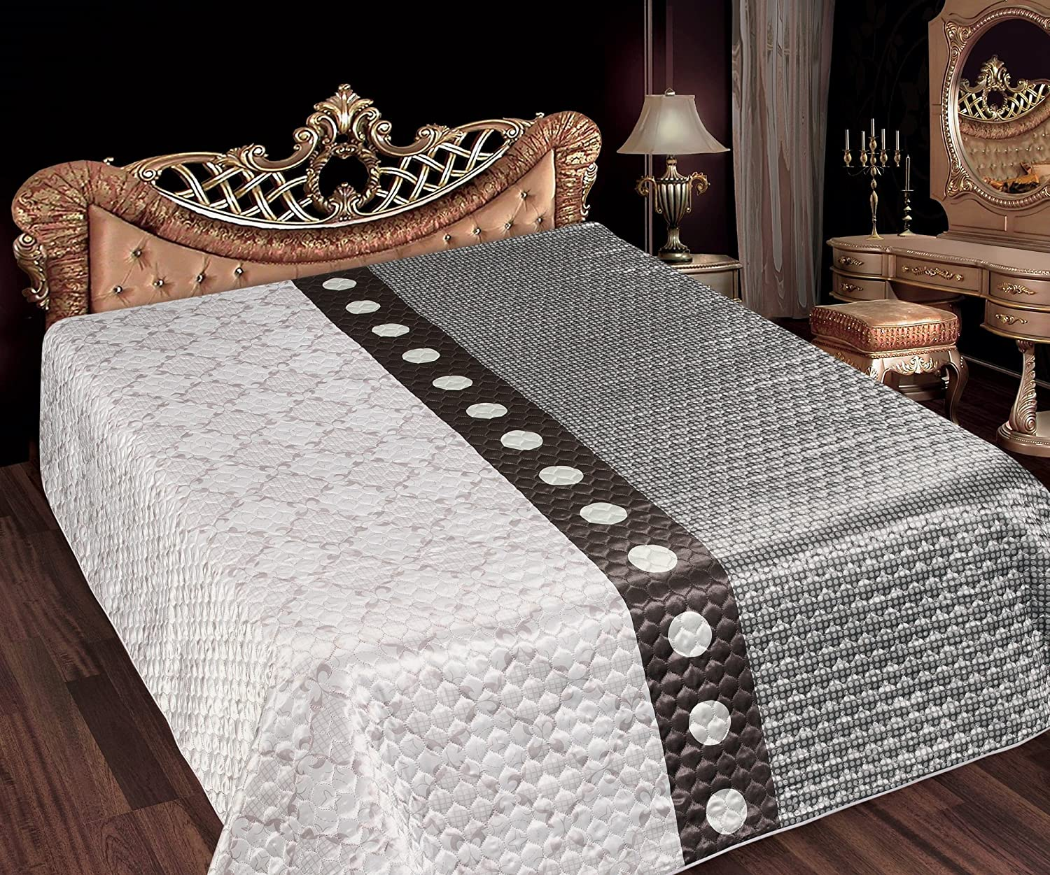 tagesdecke 200x220 cm perle bett berwurf bettdecke. Black Bedroom Furniture Sets. Home Design Ideas