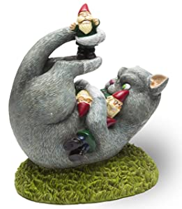 "BigMouth Inc. The Cat Garden Gnome Massacre - Funny Weatherproof Garden Decoration, Makes a Great Gag Gift – 9"" Tall"