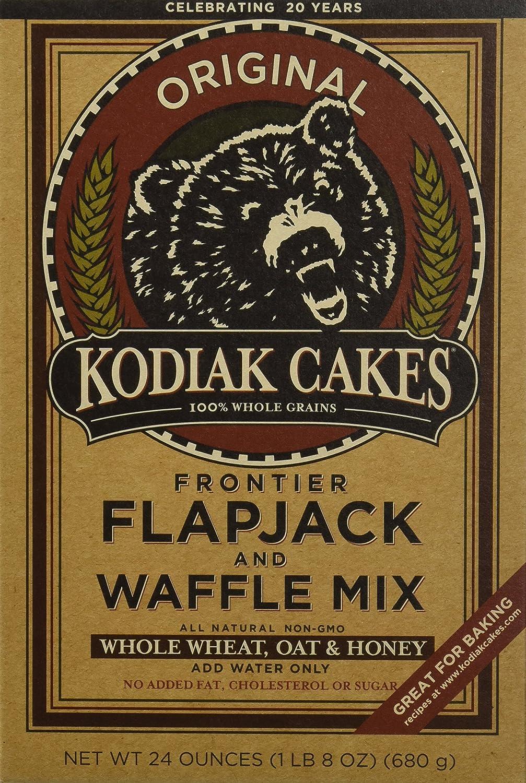 Amazon Com Kodiak Cakes Whole Wheat Honey Oat Flapjack Waffle Mix 24 Oz One Box Natural Organic Grocery Gourmet Food