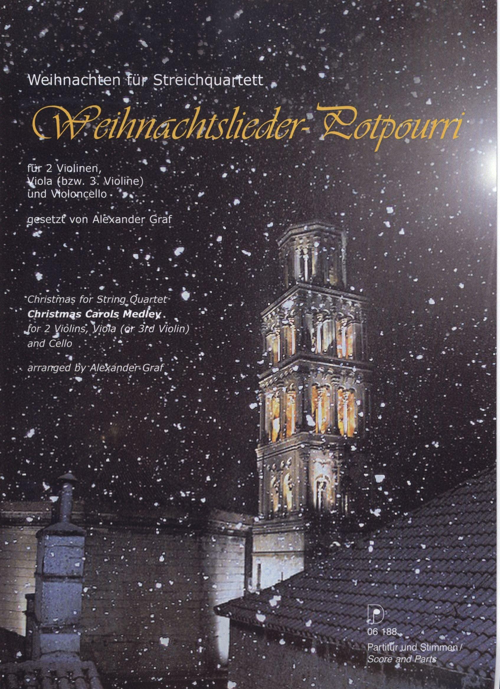 Weihnachtslieder-Potpourri, Weihnachten für Streichquartett ...