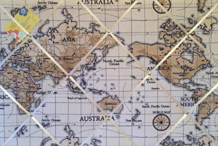 Large 60x40cm fryetts world atlas map nautical vintage hand crafted large 60x40cm fryetts world atlas map nautical vintage hand crafted fabric notice pin memo gumiabroncs
