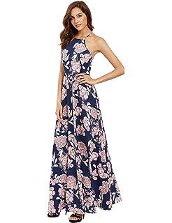 4821a192ff Urban CoCo Women s Backless Sundress Boho Summer Beach Long Dress at ...