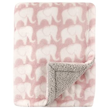ELEPHANT STARS GREY Luxury Reversible Soft Coral Cuddle Fleece Fabric Material