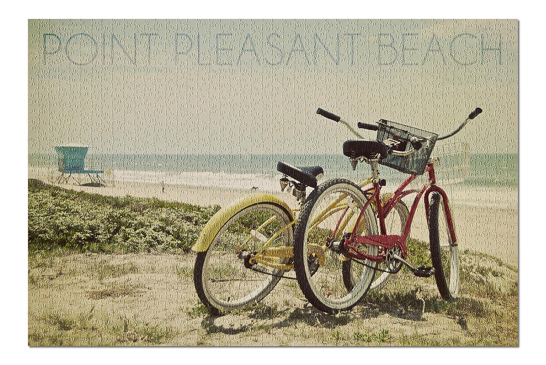 【今日の超目玉】 Point Pleasantビーチ、新しいジャージー – 20 Bicyclesとビーチシーン( 20 x 30プレミアム1000ピースジグソーパズル )、アメリカ製 Point。 ) B076PWDB3W, 添上郡:f51bec30 --- a0267596.xsph.ru