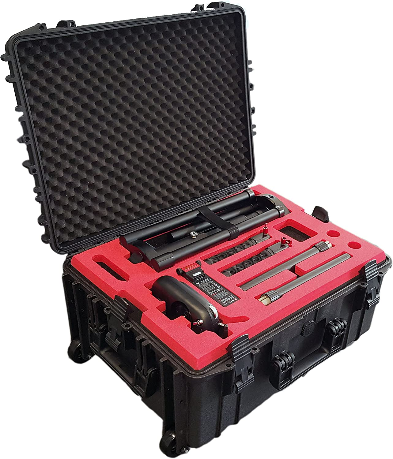 Maleta de Transporte con Ruedas/Trolley idóneo para dji Ronin MX - Made in Germany (Black)
