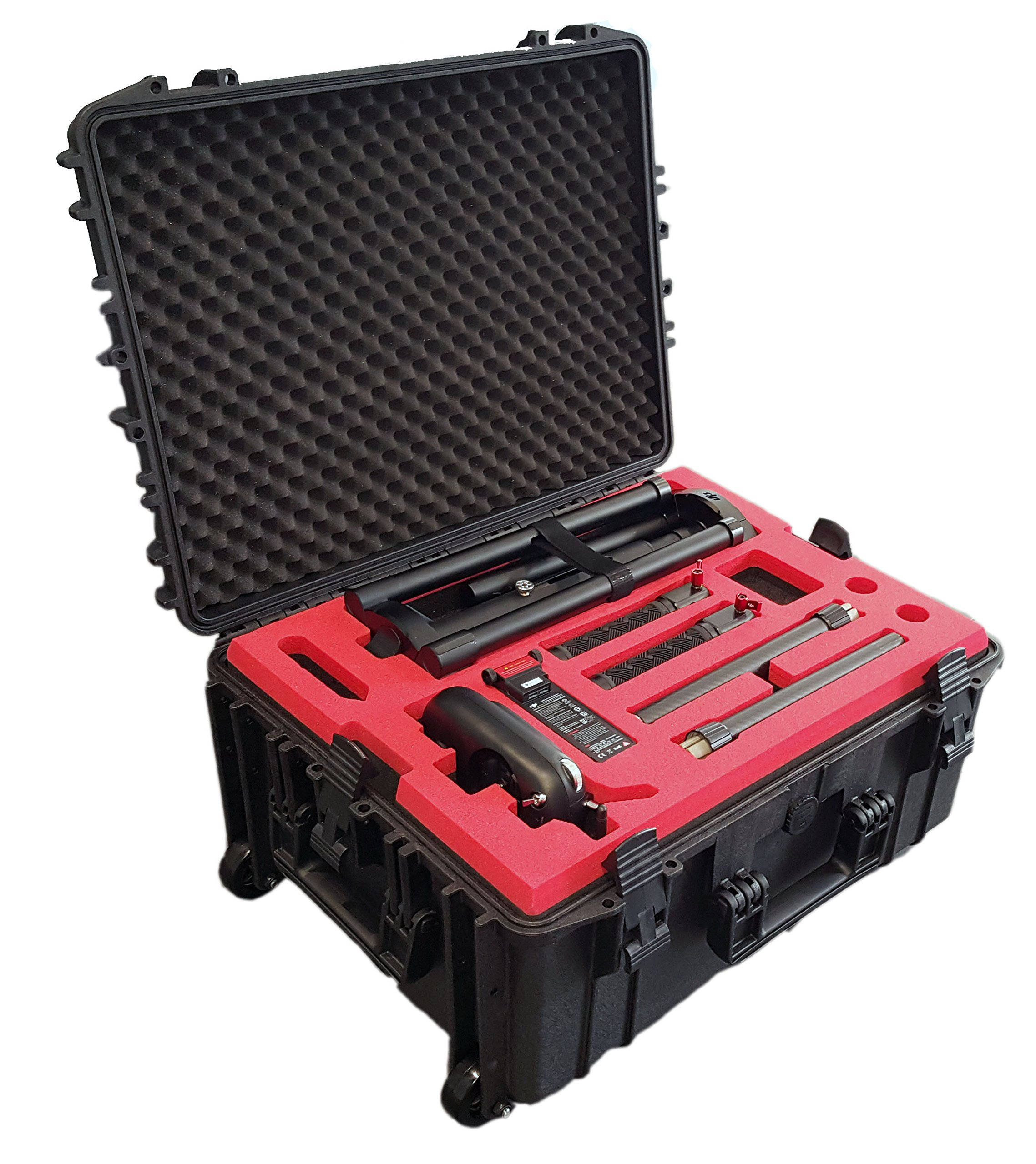 Professionell Trolley/Wheeled Carrying case Precisely fits for DJI Ronin MX with a lot of Space for Accessories on 3 Levels by mc-cases