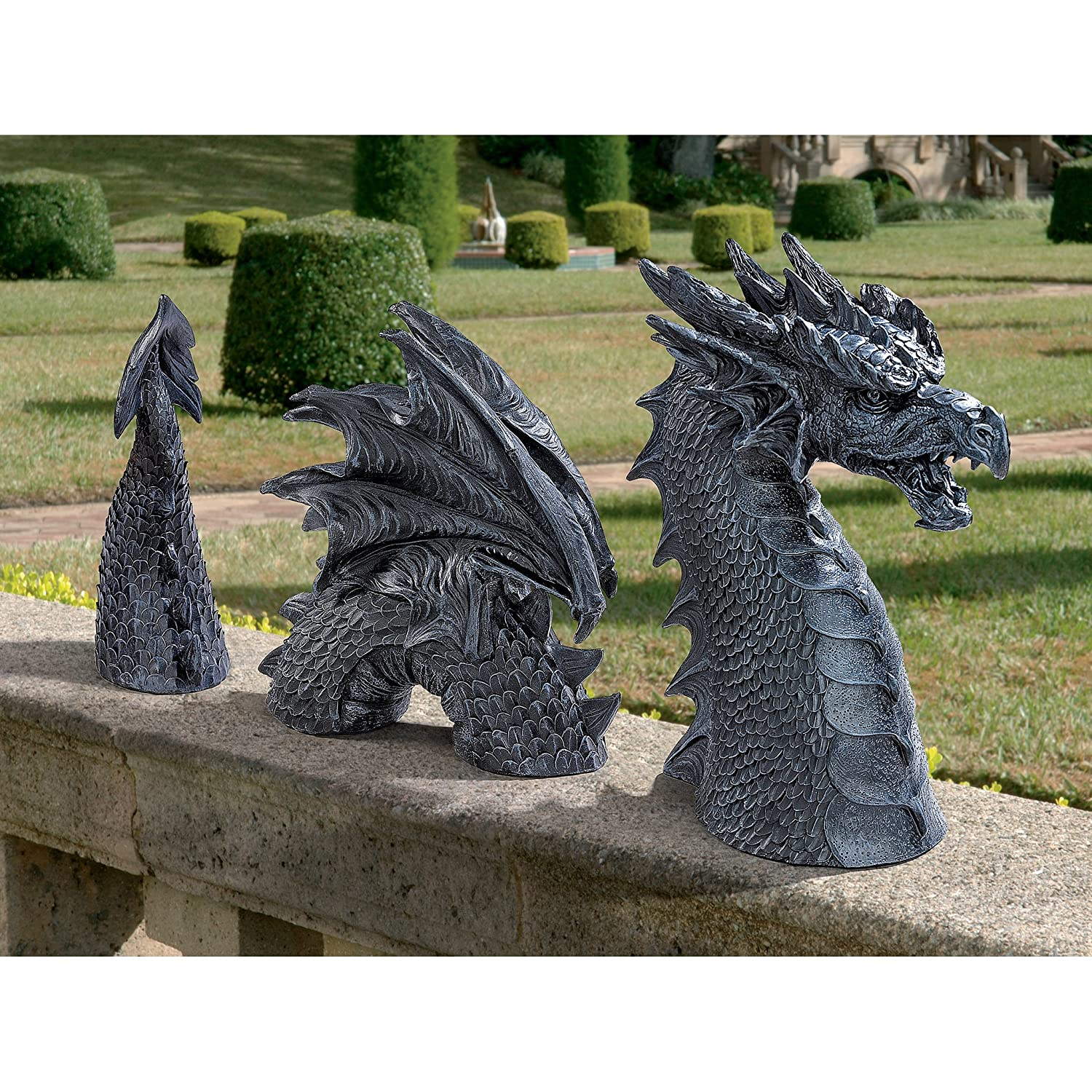 High Quality Amazon.com : Design Toscano The Dragon Of Falkenberg Castle Moat Lawn Statue  : Garden U0026 Outdoor