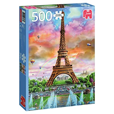 Jumbo Eiffel Tower Paris Jigsaw Puzzle (500 Piece): Toys & Games