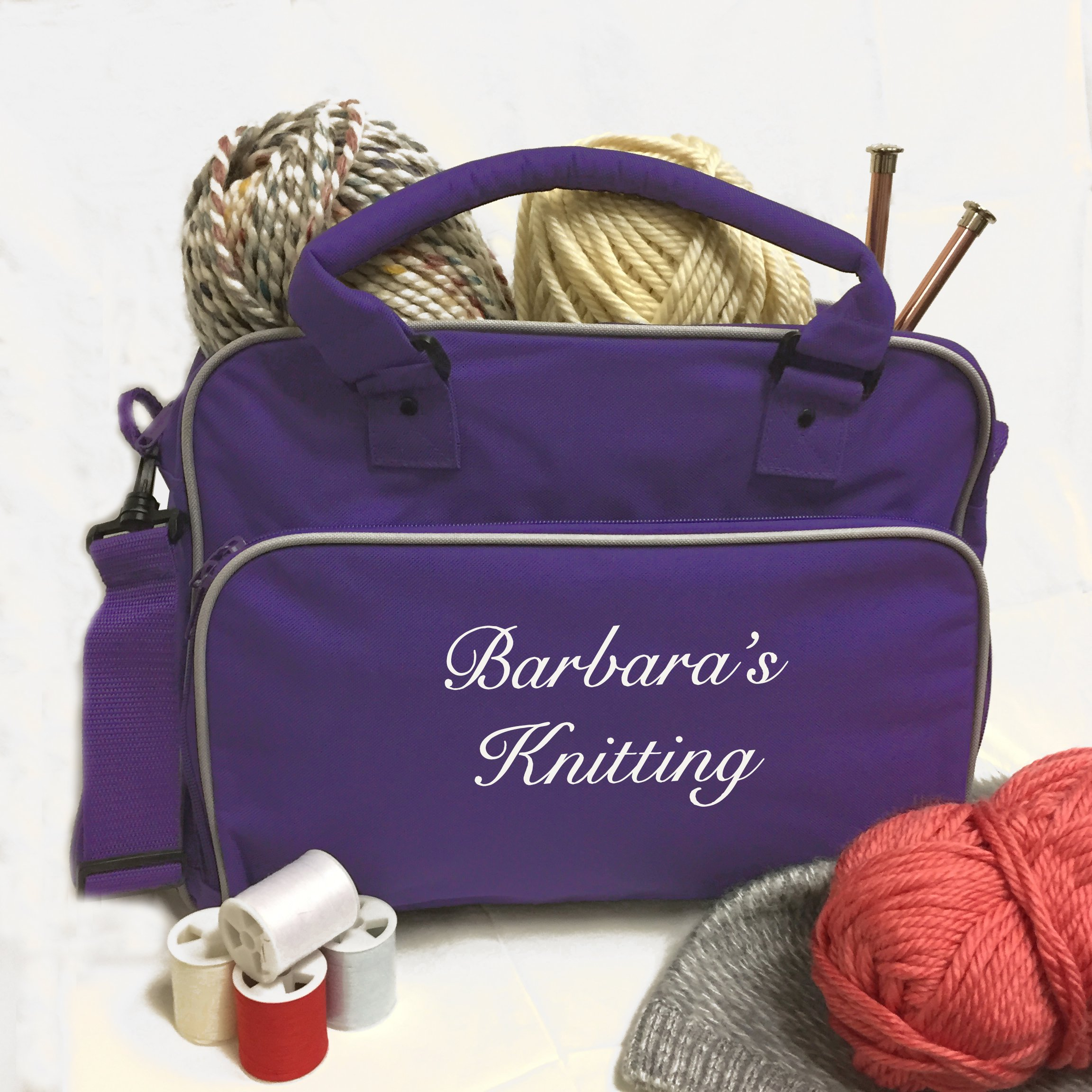 Personalized Knitting Bag for Wool, Yarn Needles, Sewing & Crafts