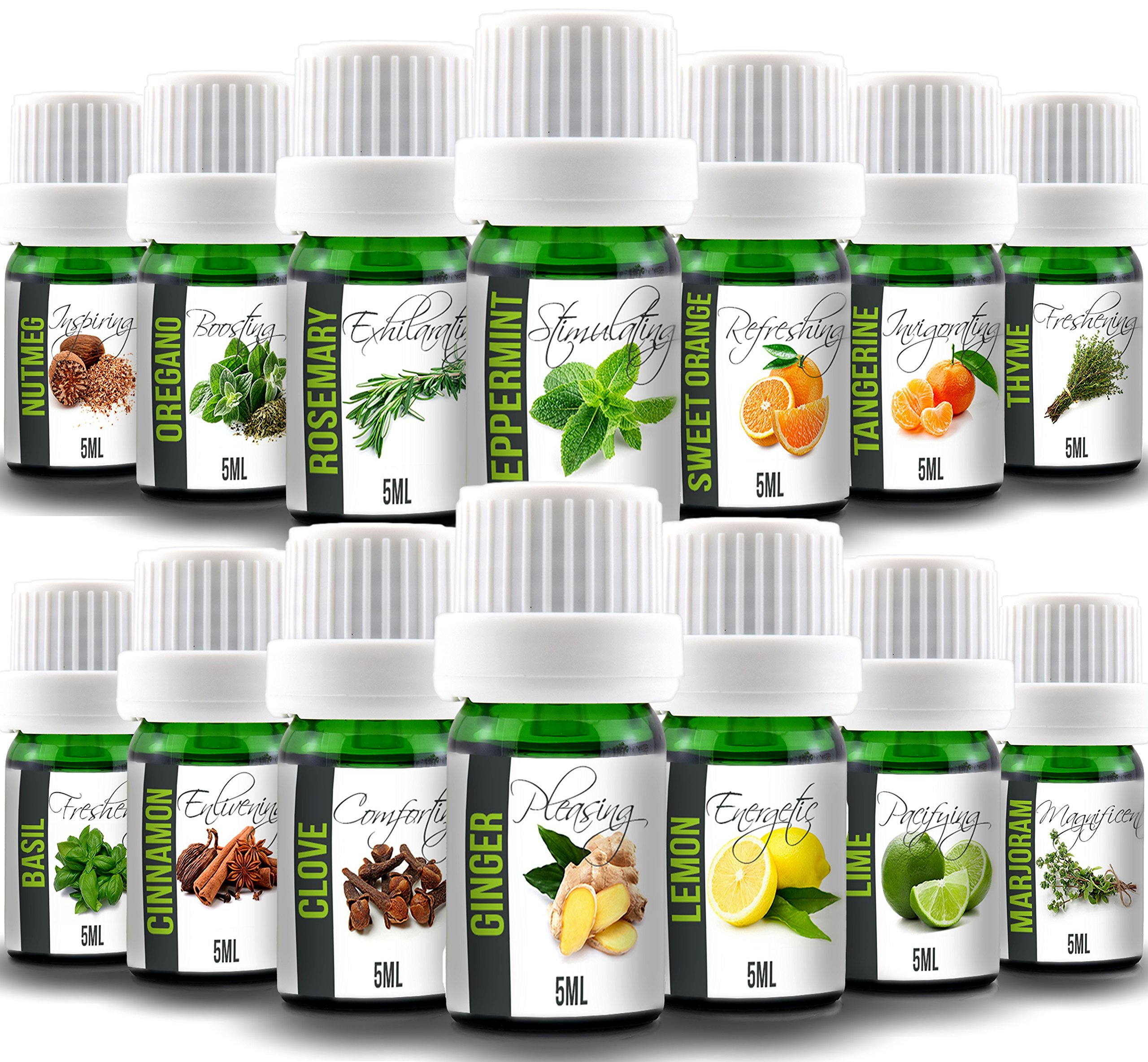 Aroma2Go Cooking Set of 14 Natural 100% Pure Plant Based Essential Oil Set with 14 Oils needed in the kitchen. Top Selling Aromatherapy Bundle Set