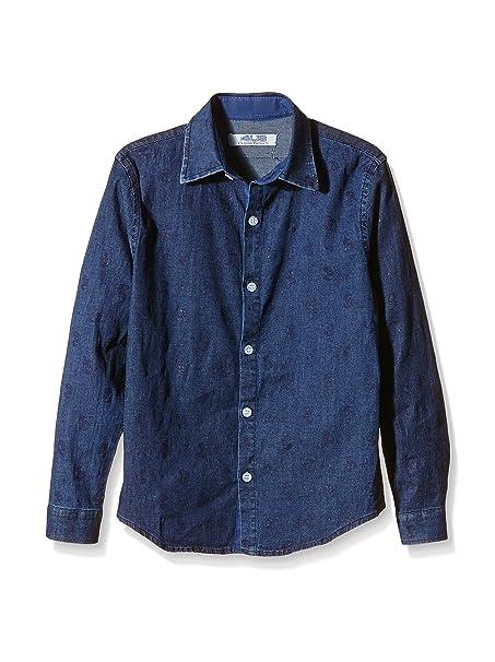 Cesare Paciotti 4US Kids Camicia Bimbo Blu Denim 7 Anni (122 cm)   Amazon.it  Abbigliamento 947c6ec3fc8