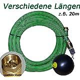 Saugschlauch Set mit Schwimmer für Elektropumpen * HIER * in 4m, 7m, 12m, 20m (** z.B. 20m **)