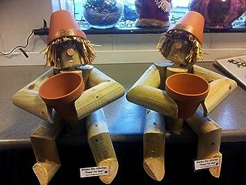 Bill And Ben Wooden Garden Gnome / Ornament Pair   Garden Gift Or Also For  Kitchen