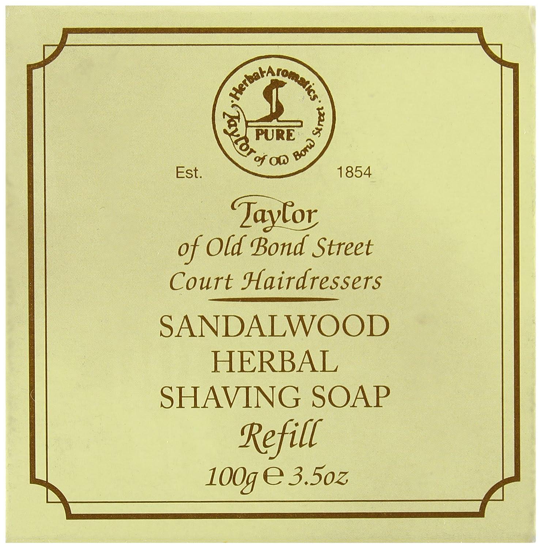 Taylor of Old Bond Street Sandalwood Hard Shaving Soap Refill, 100 Gram Spicy World of USA Inc 01051