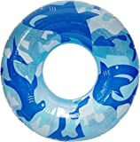 Blue/Clear Sharks 36 Inch Inflatable Swim Ring
