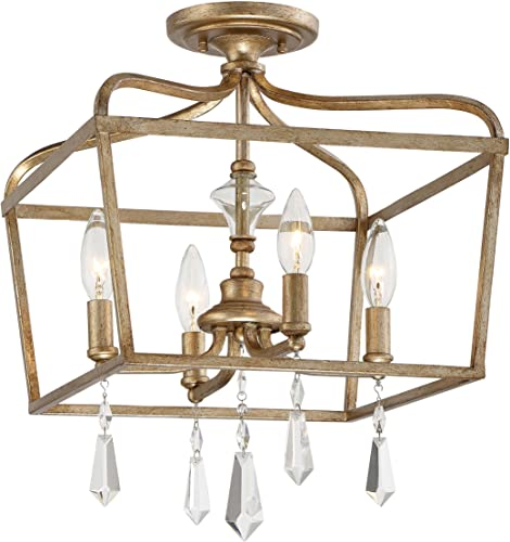 Minka Lavery 4447-582 Laurel Estate Crystal Ceiling Pendant Lantern Chandelier Lighting