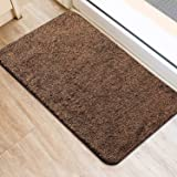 Delxo 2020 Upgrade Doormat Super Absorbent Mud Doormat 18x30 Inch No Lint Shedding Durable Anti-Slip Rubber Back Low-Profile