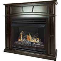 Pleasant Hearth 46 Full Size Tobacco Natural Gas Vent Free Fireplace System 32,000 BTU, Rich