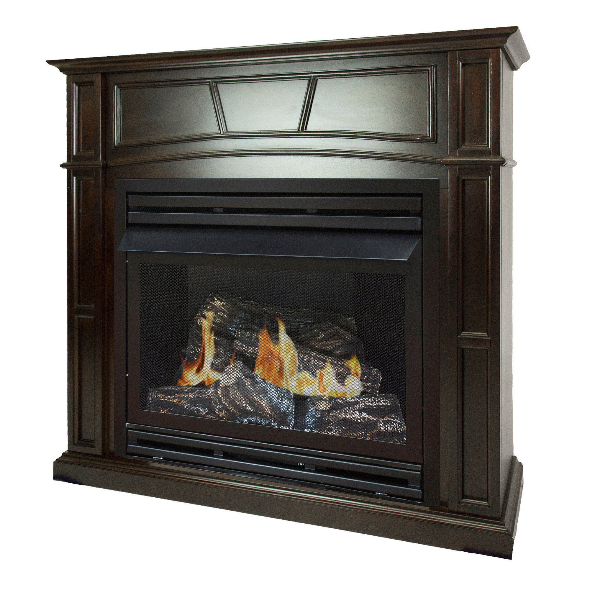 Pleasant Hearth 46 Full Size Tobacco Natural Gas Vent Free Fireplace System 32,000 BTU, Rich by Pleasant Hearth