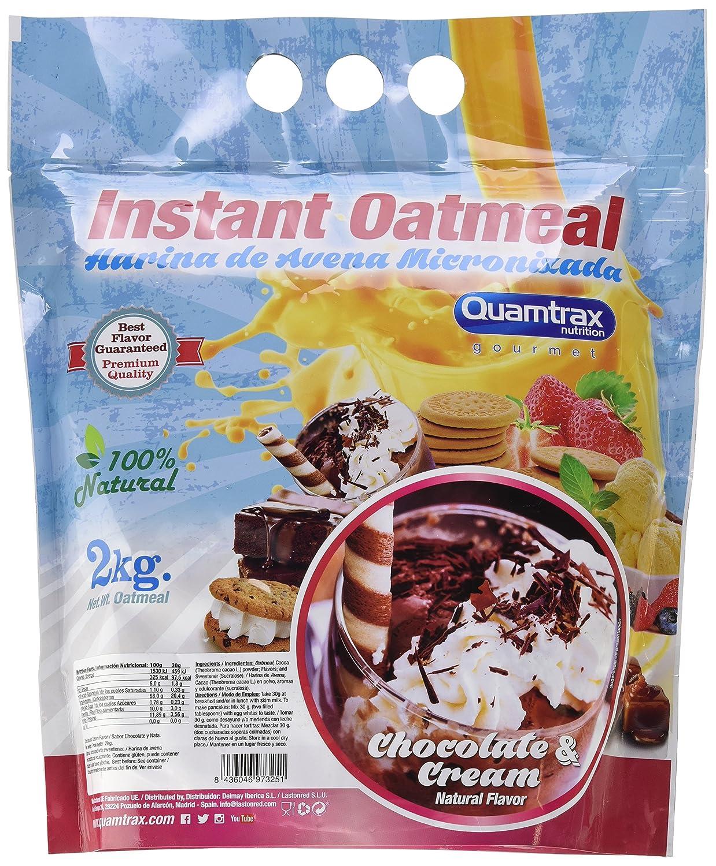 Quamtrax Nutrition Chocolate & Cream Avena Instantánea - 2000 gr: Amazon.es: Salud y cuidado personal