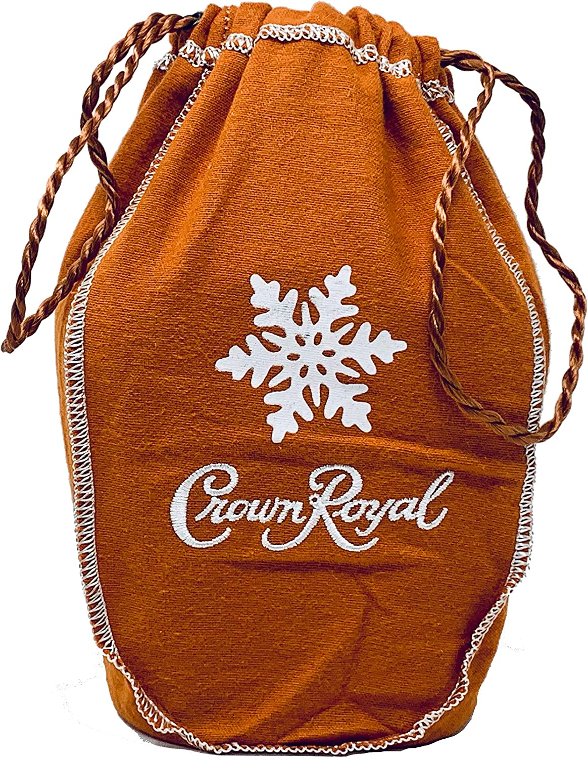 Crown Royal Bag with Drawstring | Burnt Orange with Snow Flake - Salted Caramel Holiday