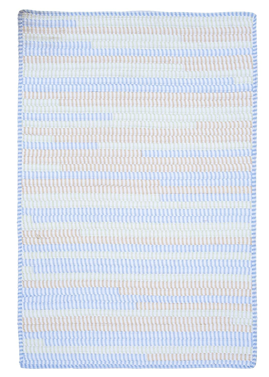 14 x 17 Starlight Blue Colonial Mills Ticking Stripe TK58SAMPLEB Sample Swatch Rugs