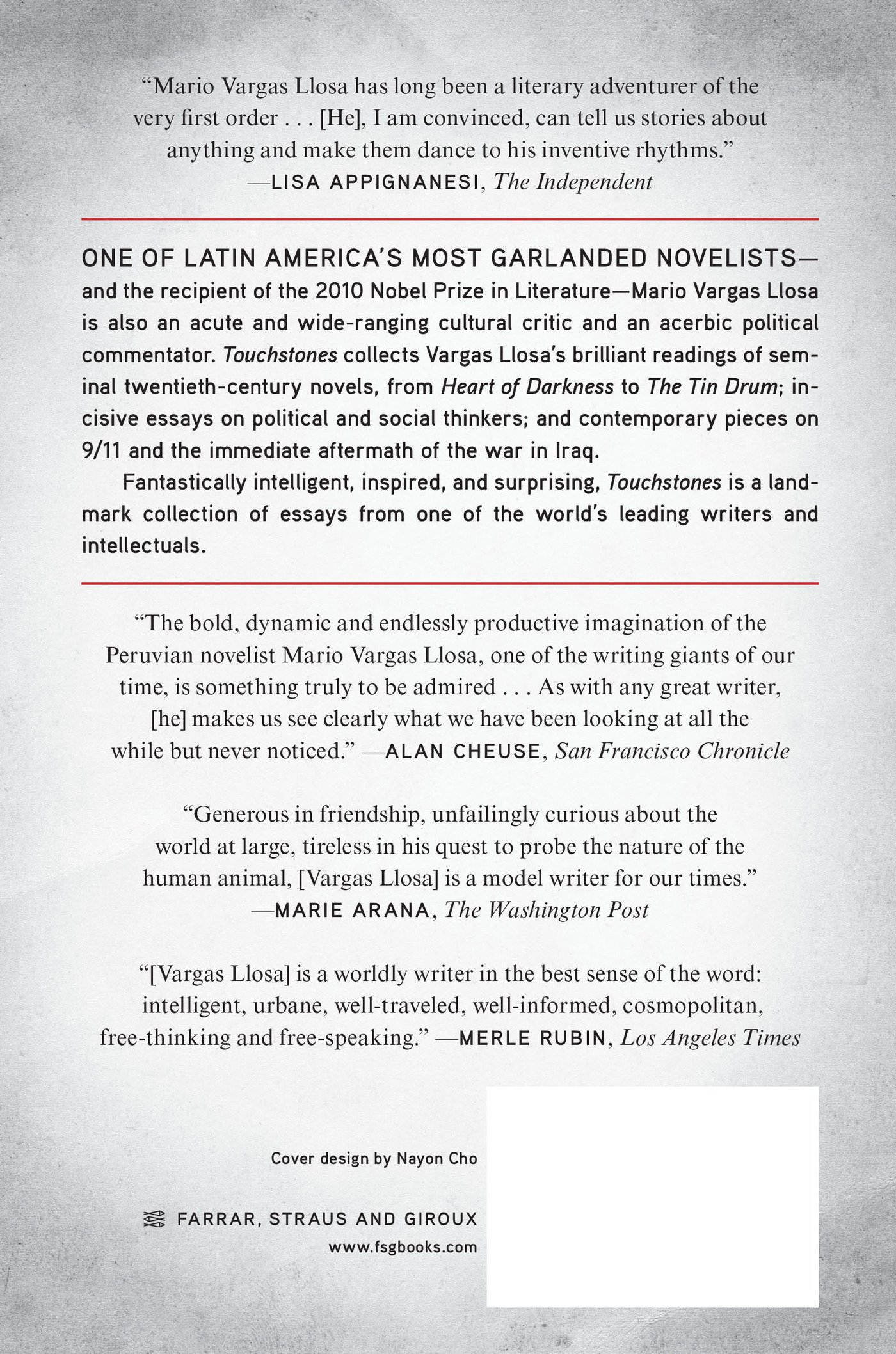 Touchstones: Essays On Literature, Art, And Politics: Mario Vargas Llosa,  John King: 9780374278373: Amazon: Books
