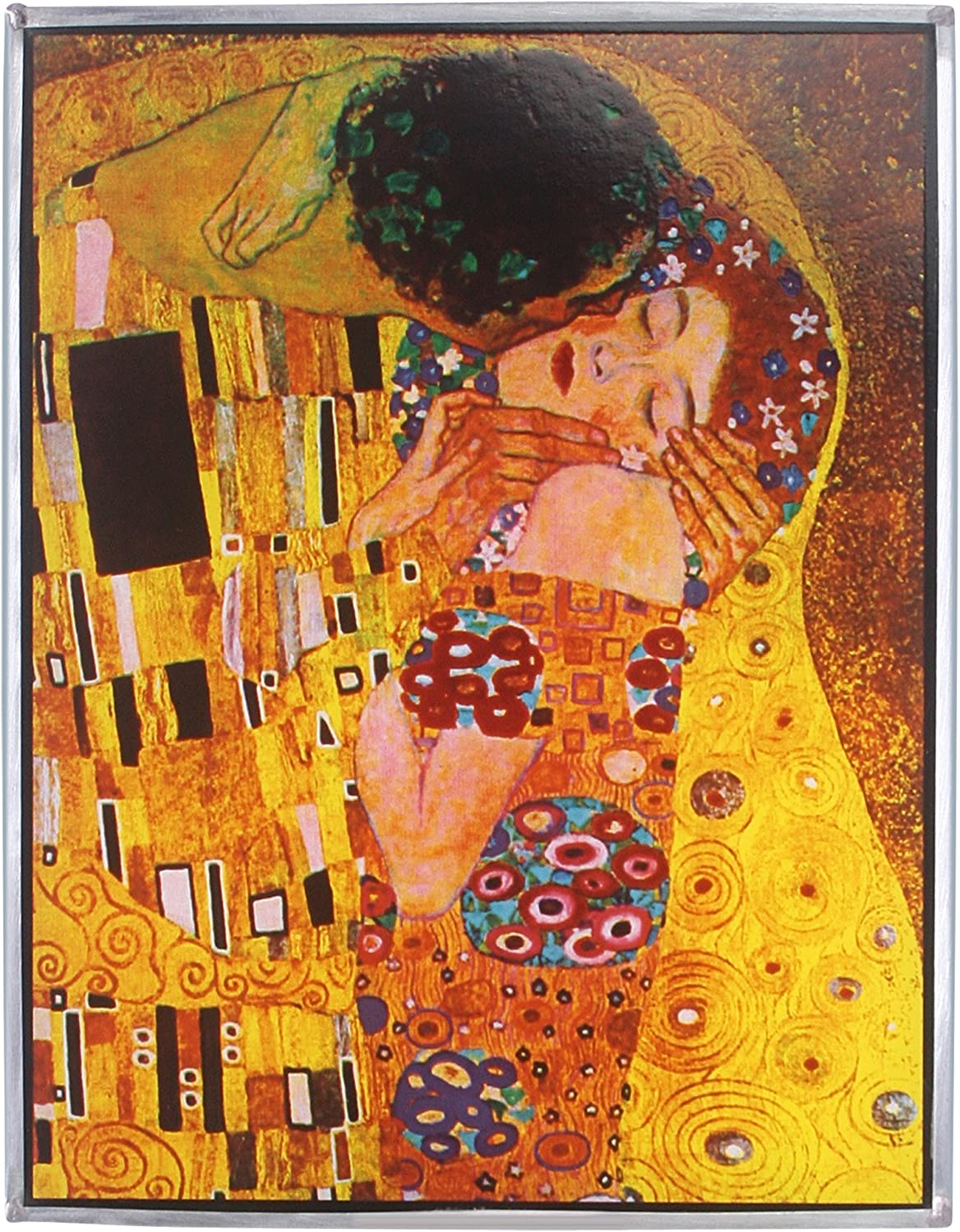 Stained Glass Panel - Klimt The Kiss Stained Glass Window Hangings - Art Glass Window Treatments