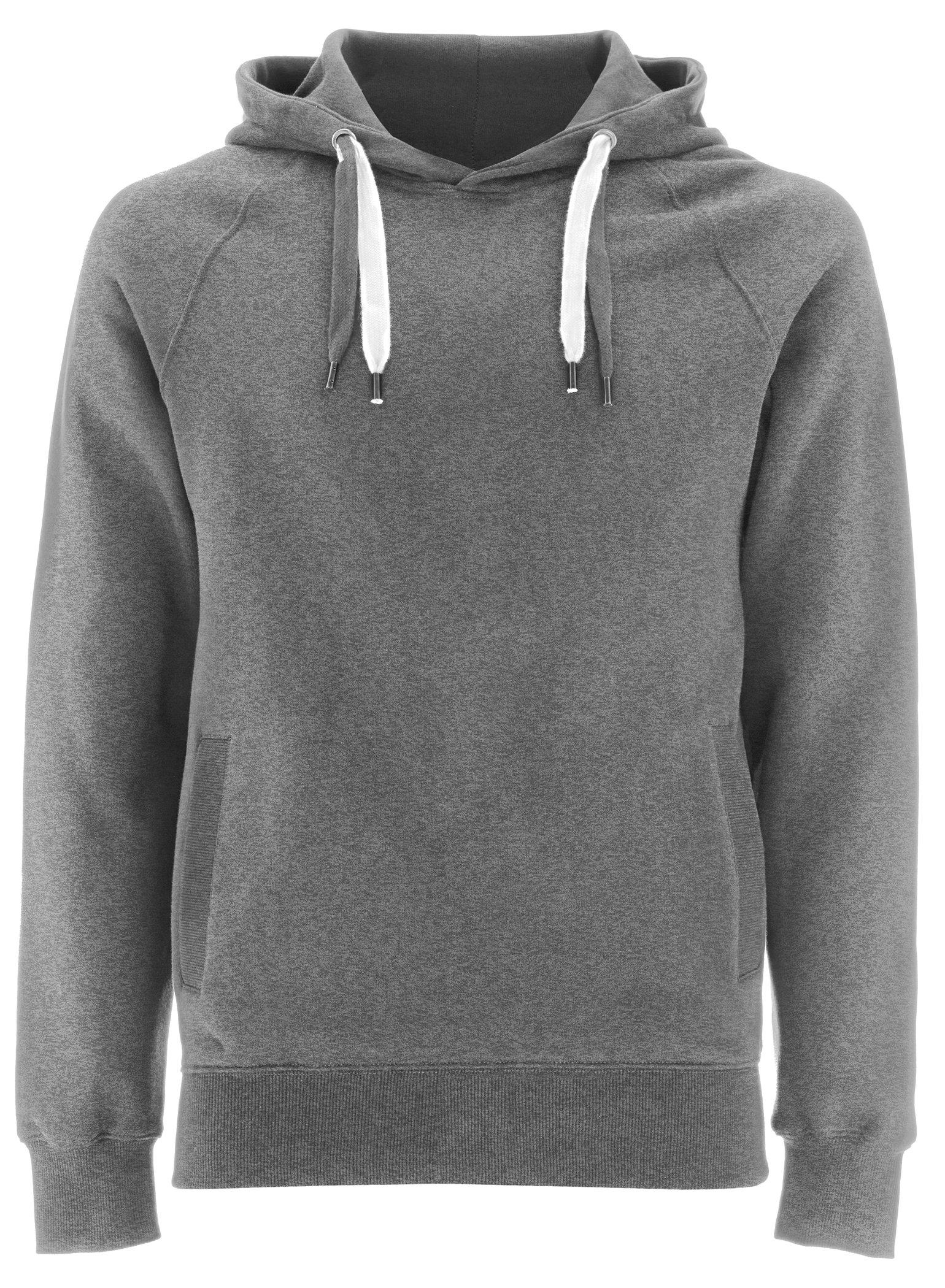Melange Grey Pullover Hoodie for Girls - X Small - XS - Girls Hooded Sweatshirt