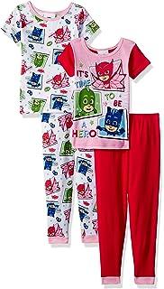PJMASKS PJ Masks Girls 4-Piece Cotton Pajama Set