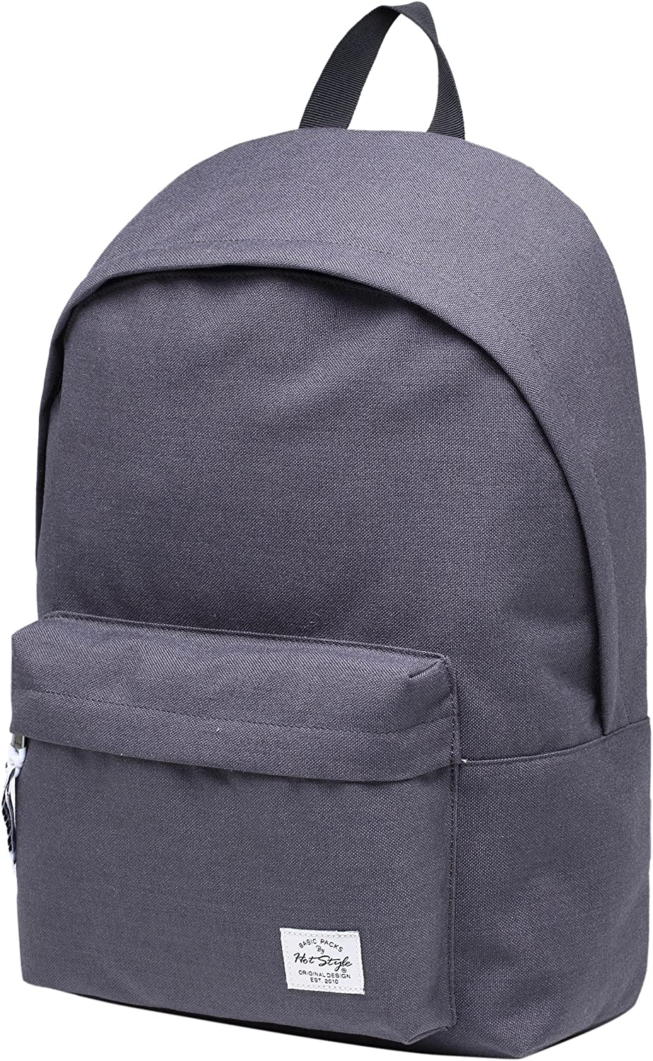 KLEPPR Classic Simple Backpack Fits 15.6-inch Laptop 17.5 x11.6 x4.7 DimGray