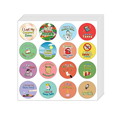 Creanoso Cute Adulting Stickers (5-Sheet) - Stocking Stuffers Premium Quality Gift Ideas for Especially for Adults - Corporate Giveaways & Party Favors: Office Products