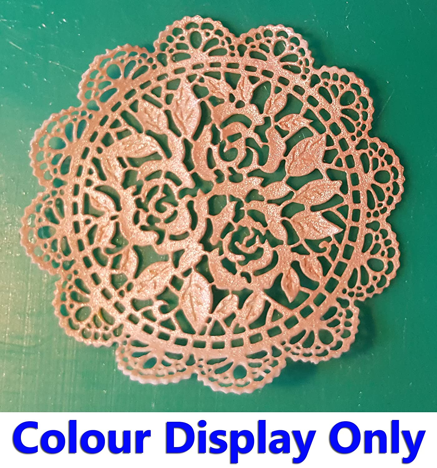 Free First Class Postage 1 Simply Heaven Edible Ready Made Cake Lace 40 Colours Made from mat 37 White
